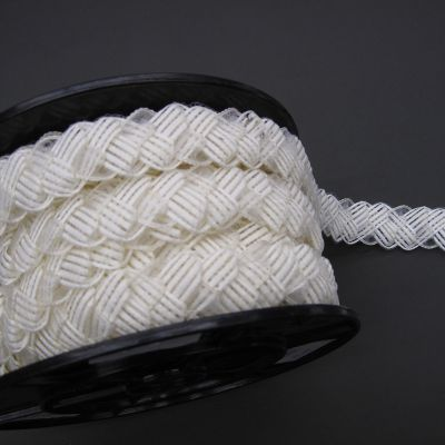 braided raffiaribbon with crin 60015