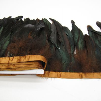Full coque feathers on ribbon 70012